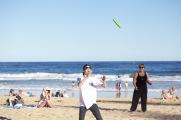Frisbee on Austinmer Beach