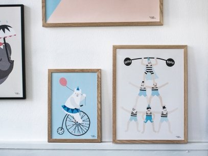 acrobats and cycling bear Michelle Carlslund High res web
