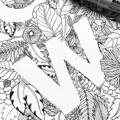 W (detail of 'Growth' piece)